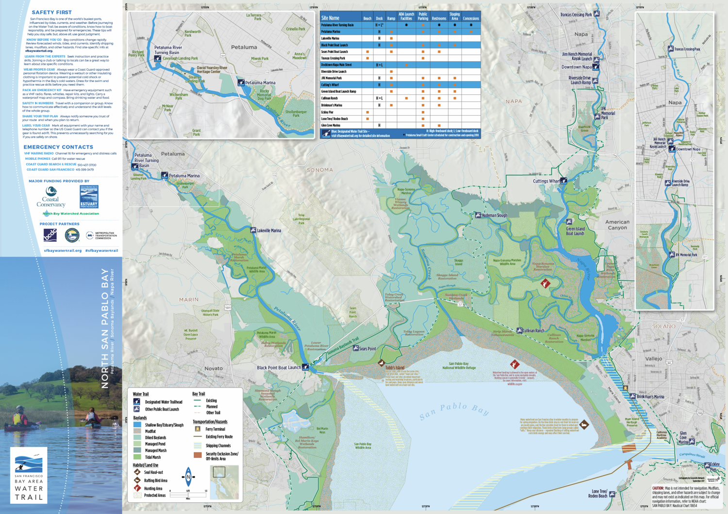 Publication of Five Waterproof Water Trail Maps for the San