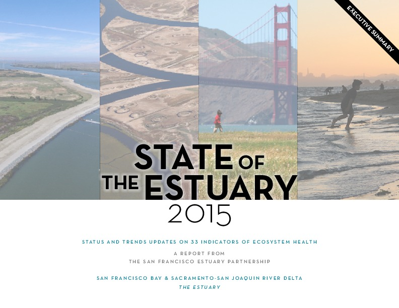 Cover of 2015 State of the Estuary Report