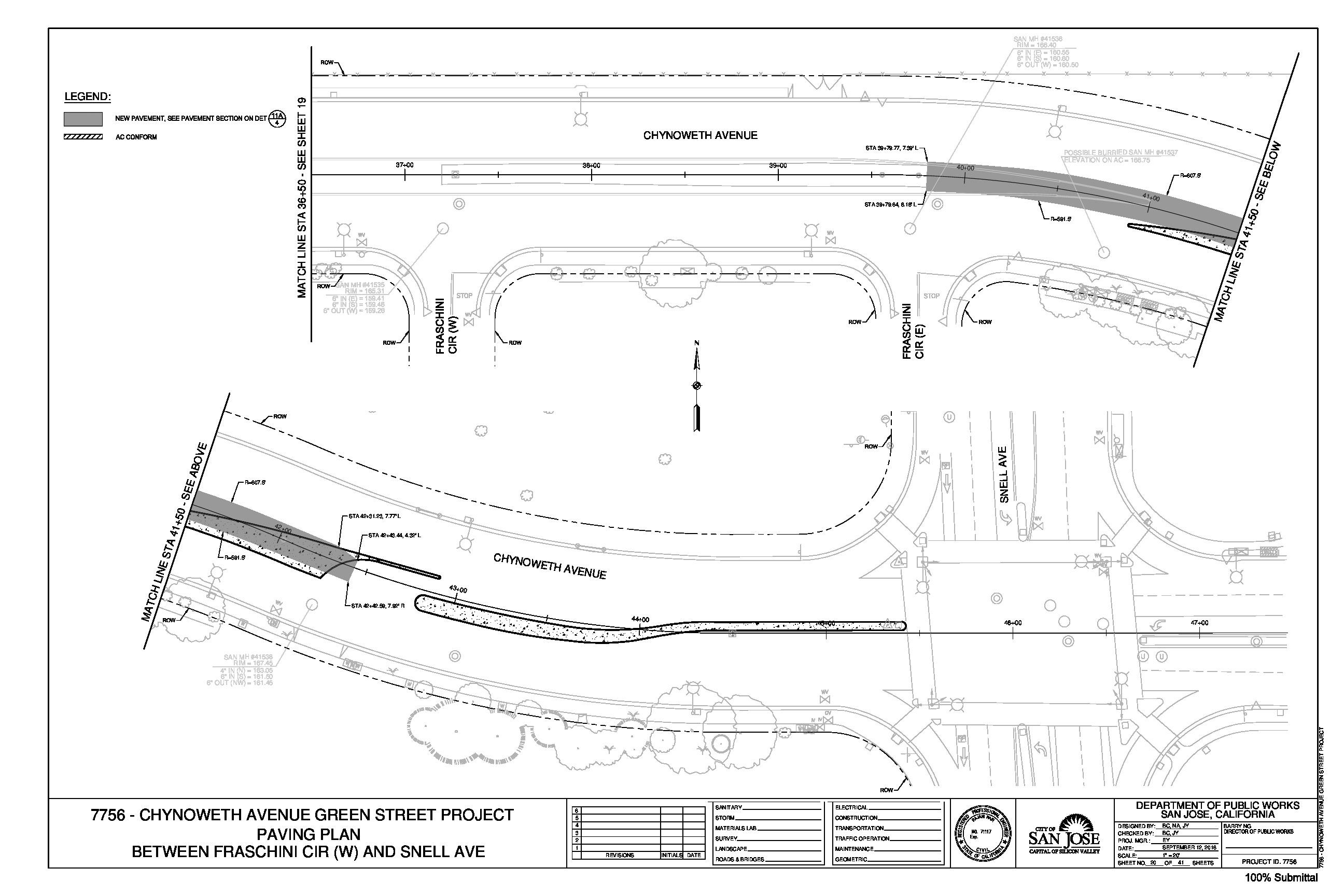 Chynoweth Avenue Green Street Project Plans