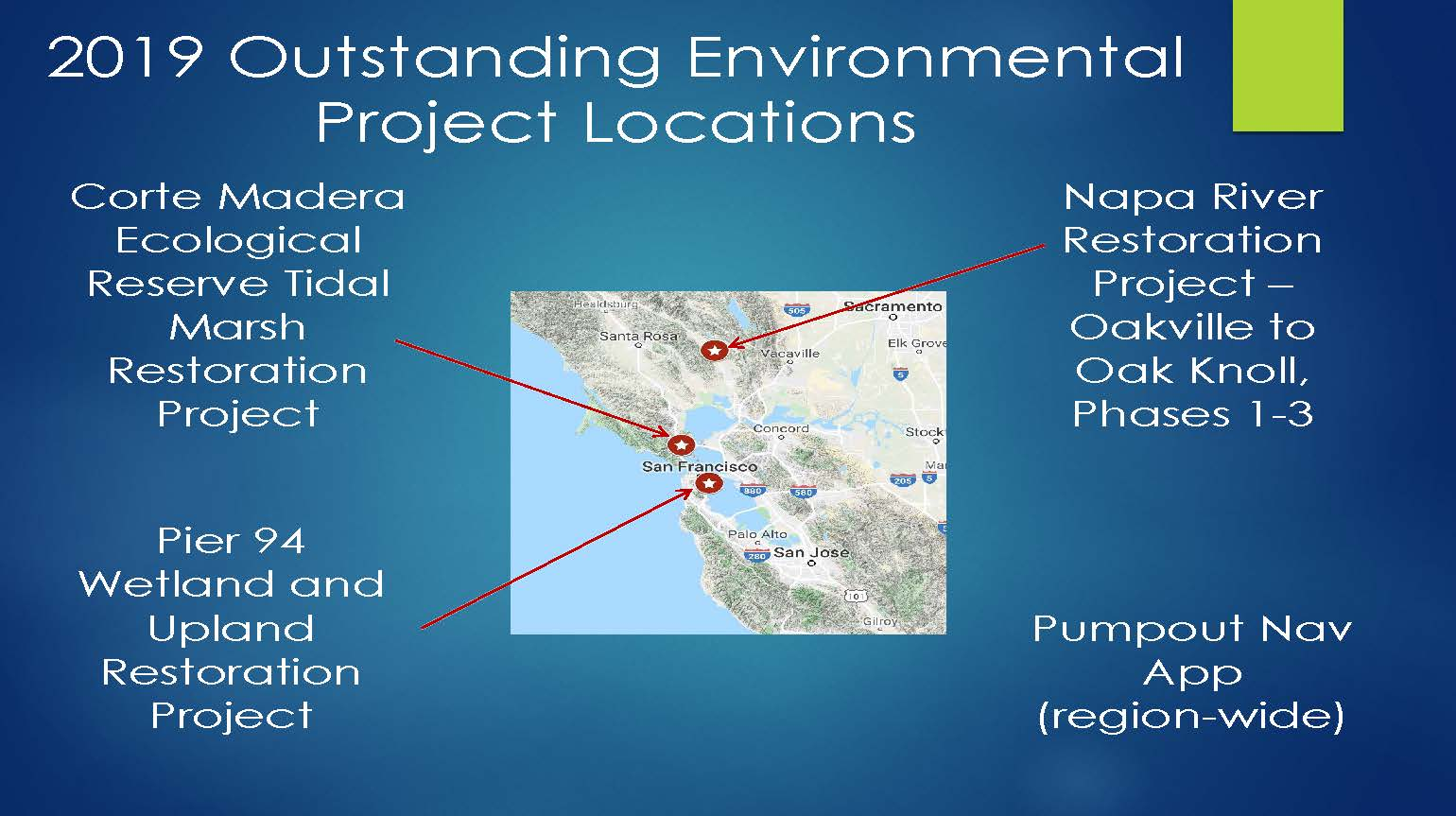 Page from Friends Environmental Projects Award presentation 2019