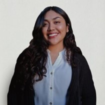 Gloria Alonso Cruz smiling in white shirt